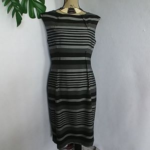Calvin Klein Striped Sleeveless Dress